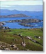 Derrynane Harbour, Caherdaniel, Ring Of Metal Print