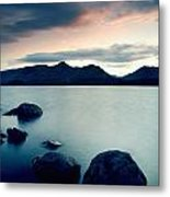Derwent Water With Catbells At Sunset Metal Print