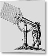Descartes' 'giant' Microscope, 1637. Metal Print