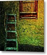 Descend From Pane  Metal Print