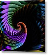 Descending Flight Metal Print