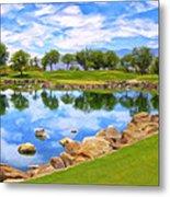 Desert Golf Metal Print