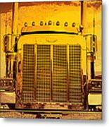 Desert Hauler Abstract Metal Print
