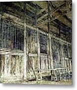 Deserted Chinese Farm House Metal Print