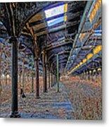 Deserted Railroad Platforms Metal Print