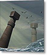 Destruction Of Atlantis Metal Print