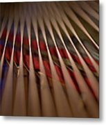 Detail Of Piano Strings Metal Print