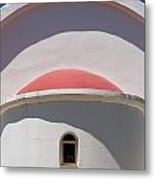 Detail Of Small Church Between Limnes Metal Print