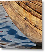 Detail Of The Hull Of A Norrlandsboat Metal Print