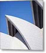 Detail Of The Roof Of The Sydney Opera Metal Print