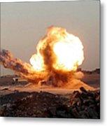 Detonation Of A Weapons Cache Metal Print
