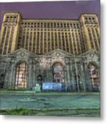 Detroit's Michigan Central Station - Michigan Central Depot Metal Print