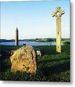 Devenish Island, Co Fermanagh, Ireland Metal Print
