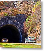 Devil's Courthouse Tunnel Metal Print
