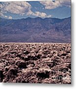 Devil's Golf Course At Death Valley Metal Print