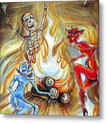 Devil's Inferno Metal Print