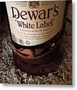 Dewars White Label Metal Print