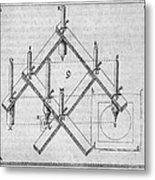 Diagram Of A Pantograph Metal Print