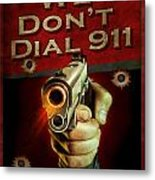 Dial 911 Metal Print by JQ Licensing