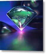 Diamond On Purple Metal Print