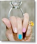 Diamond Ring Metal Print