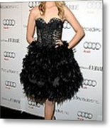 Dianna Agron At Arrivals For Audi Metal Print by Everett
