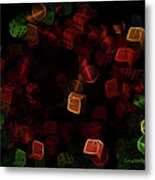 Dice And Letters Metal Print