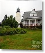 Dice Head Lighthouse Metal Print