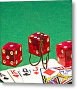 Dice Red Cards Hook 1 B Metal Print