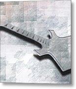 Digital-art E-guitar IIi Metal Print by Melanie Viola