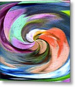 Digital Swirl Of Color 2001 Metal Print
