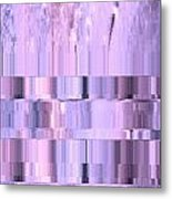 Digitized Purple Metal Print by Colleen Cannon