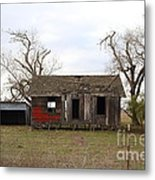 Dilapidated Old Farm House . 7d10341 Metal Print