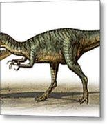 Dilophosaurus Wetherilli, A Prehistoric Metal Print