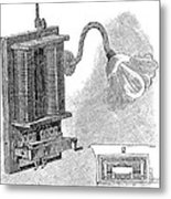 Dimmer Lamp Electrics, 19th Century Metal Print by