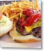 Diner Burger Metal Print