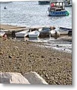 Dinghies At Green Harbor Metal Print