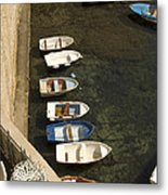Dinghy's In Dubrovnik Metal Print