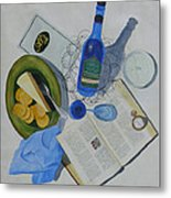 Dining On Words At Al's Cafe Metal Print