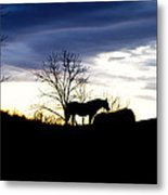Dinner On The Hill Metal Print