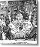 Dinner Party, 1915 Metal Print