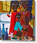 Dinner With Mom Metal Print