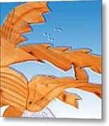 Dinosaur Fish With Bubbles Metal Print