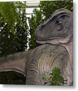 Dinosaur Inside The Conservatory Metal Print
