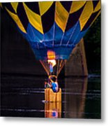 Dipping The Balloon Basket Metal Print