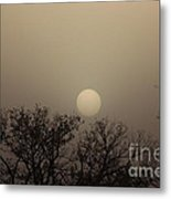 Dirt Storm Sunset Natural Color Of It Metal Print