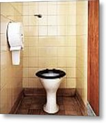 Dirty Public Toilet Metal Print by Richard Thomas