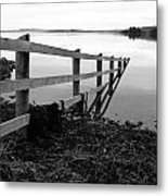 Disappearing Fence. Metal Print