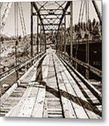 Discarded Bridges Metal Print