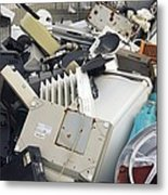 Discarded Electrical Items Metal Print